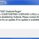 Remover mensagem de erro ESET no Outook
