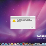 Mac – Your computer is low on memory
